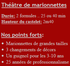 Spectacle de guignol en Ile-de-France